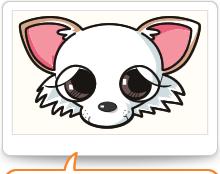 看板犬ミルの似顔絵